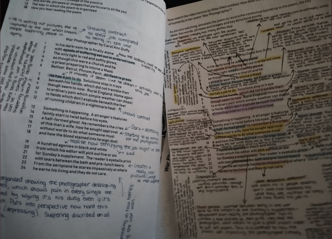 Pupil annotations